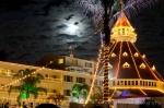 Hotel Del Coronado in the moolight