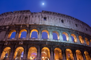 Coliseum In Blue
