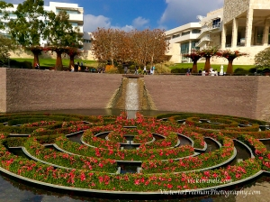 Getty fountain and maze