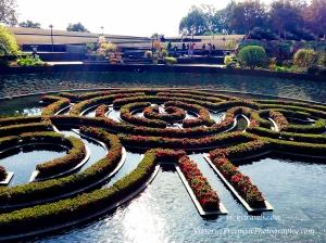 Getty manicured gardens